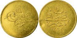 World Coins - Coin, Egypt, Abdul Hamid II, 5 Qirsh, 1890/AH1293, Misr, , Gold, KM:298
