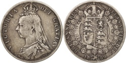 World Coins - Great Britain, Victoria, 1/2 Crown, 1889, , Silver