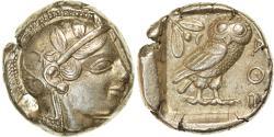 Ancient Coins - Coin, Attica, Athens, Tetradrachm, 460-400 BC, Athens, , Silver