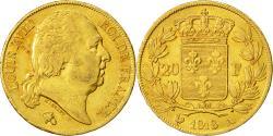 Ancient Coins - Coin, France, Louis XVIII, 20 Francs, 1818, Paris, AU(50-53), Gold, KM 712.1
