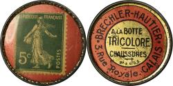 World Coins - Coin, France, Brechler-Hautier, Tricolore, Chaussures, Calais, 5 Centimes