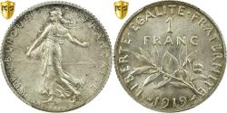Ancient Coins - Coin, France, Semeuse, Franc, 1919, Paris, PCGS, MS65, Silver, KM:844.1, graded