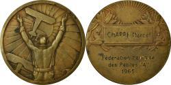 "World Coins - France, Medal, Fédération Havraise des Petites ""A"", Aviation, 1965, Fraisse"