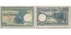 World Coins - Banknote, Belgian Congo, 100 Francs, 1946, 1946-03-11, KM:17c, VF(20-25)