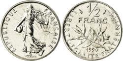 World Coins - Coin, France, Semeuse, 1/2 Franc, 1990, Paris, , Nickel, KM:931.1