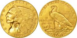 Us Coins - Coin, United States, Indian Head, $2.50, Quarter Eagle, 1927, , Gold