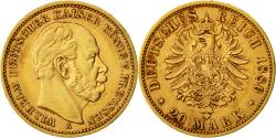 Ancient Coins - Coin, German States, PRUSSIA, Wilhelm I, 20 Mark, 1886, Berlin, AU(50-53), Gold
