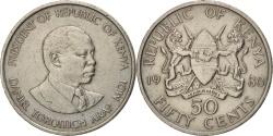 World Coins - Kenya, 50 Cents, 1980, British Royal Mint, , Copper-nickel, KM:19