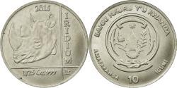 World Coins - Coin, Rwanda, Rhinocéros, 10 Francs, 2015, , Iridium
