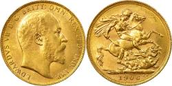 World Coins - Coin, Australia, Edward VII, Sovereign, 1906, Perth, , Gold, KM:15
