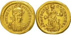 Theodosius II, Solidus, Constantinople, , Gold, RIC:202