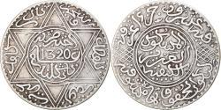 World Coins - Coin, Morocco, 'Abd al-Aziz, Rial, 10 Dirhams, 1902/AH1320, , Silver