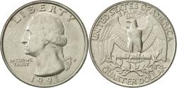 Us Coins - United States, Washington Quarter, Quarter, 1991, U.S. Mint, Philadelphia