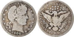 Us Coins - Coin, United States, Barber Quarter, Quarter, 1900, U.S. Mint, New Orleans