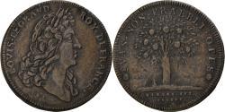 World Coins - France, Token, Louis XIV, Jeton à l'arbre fruitier chargé de fruits