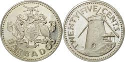 World Coins - Coin, Barbados, 25 Cents, 1973, Franklin Mint, , Copper-nickel, KM:13