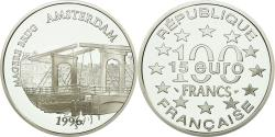 World Coins - Coin, France, Magere Brug d'Amsterdam, 100 Francs-15 Euro, 1996,