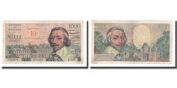 World Coins - France, 10 Nouveaux Francs on 1000 Francs, 1957, 1957-03-07, AU(50-53)