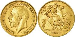 World Coins - Coin, Great Britain, George V, 1/2 Sovereign, 1911, , Gold, KM:819