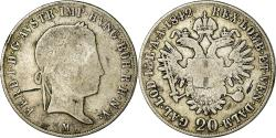 World Coins - Coin, Austria, Ferdinand I, 20 Kreuzer, 1842, Milan, , Silver, KM:2208