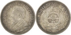 World Coins - SOUTH AFRICA, 2-1/2 Shillings, 1897, KM #7, , Silver, 13.96