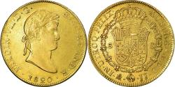 World Coins - Coin, Mexico, Ferdinand VII, 8 Escudos, 1820, Mexico City, , Gold
