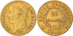World Coins - Coin, France, Napoléon I, 20 Francs, 1811, Paris, , Gold, KM:695.1