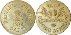 World Coins - Coin, Peru, Hacienda Puente Santa, 10 Centavos, 1878, , Copper-nickel