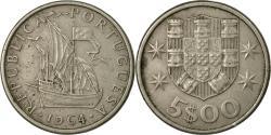 World Coins - Coin, Portugal, 5 Escudos, 1964, , Copper-nickel, KM:591