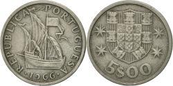 World Coins - Portugal, 5 Escudos, 1966, , Copper-nickel, KM:591