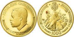 World Coins - Coin, Gabon, Albert Bernard Bongo, 1000 Francs, 1969, Proof, , Gold, KM:6