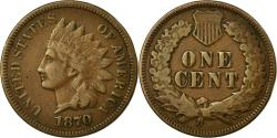 Us Coins - Coin, United States, Indian Head Cent, 1870, Philadelphia, , KM 90a
