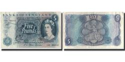 World Coins - Banknote, Great Britain, 5 Pounds, 1966, KM:375b, AU(50-53)
