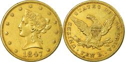 Us Coins - Coin, United States, Coronet Head, $10, Eagle, 1847, Philadelphia,