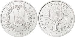 World Coins - DJIBOUTI, 5 Francs, 1977, KM #E3, , Aluminium, 3.80