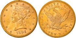 Us Coins - Coin, United States, Coronet Head, $10, Eagle, 1894, U.S. Mint, Philadelphia