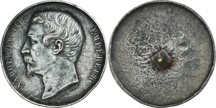World Coins - France, Medal, Napoléon III, Cliché Uniface, Récompense, History, De