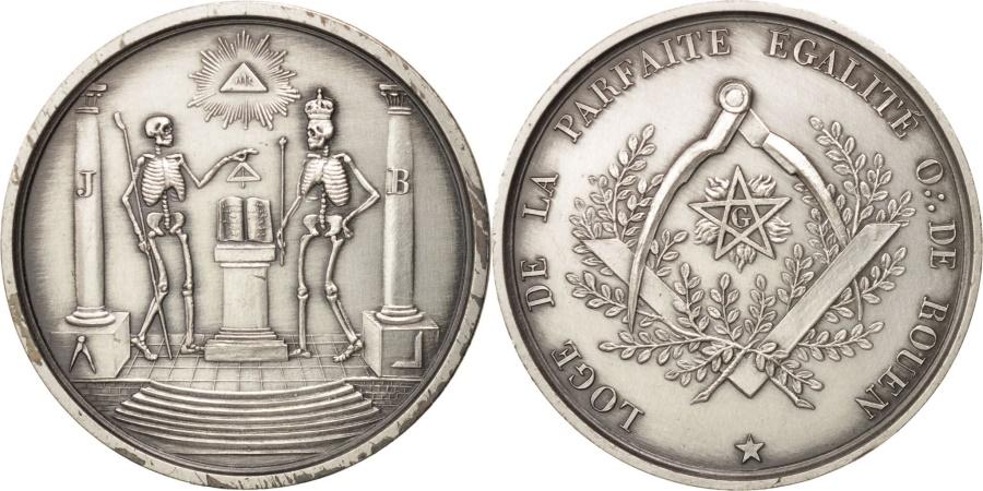 World Coins - France, Token, Masonic, Orient de Rouen, Loge de la Parfaite Egalité