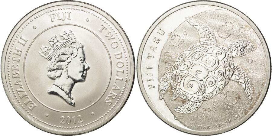 World Coins - FIJI, 2 Dollars, 2012, New Zealand, KM #151, , Silver, 40.5, 31.29