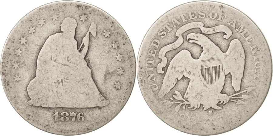 US Coins - United States, Seated Liberty Quarter, Quarter, 1876, U.S. Mint, San Francisco