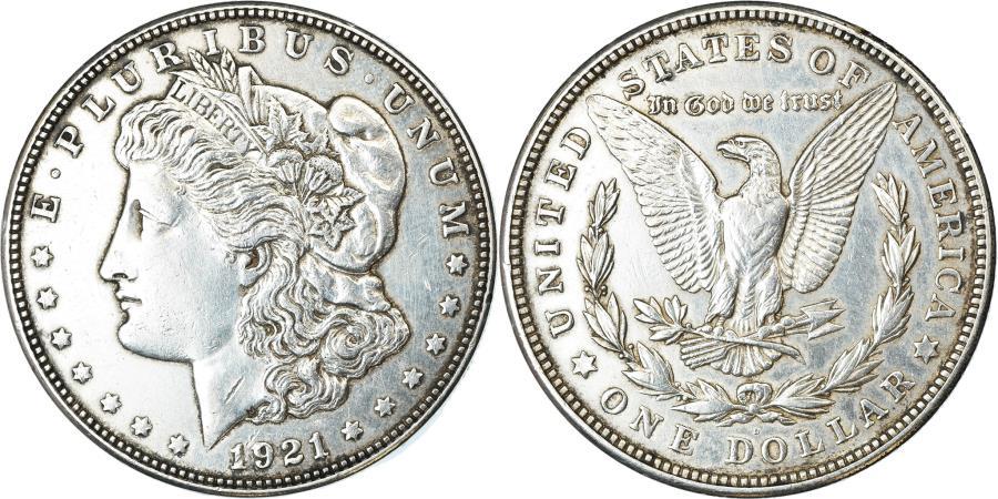 US Coins - Coin, United States, Morgan Dollar, 1921, Denver, , KM 110