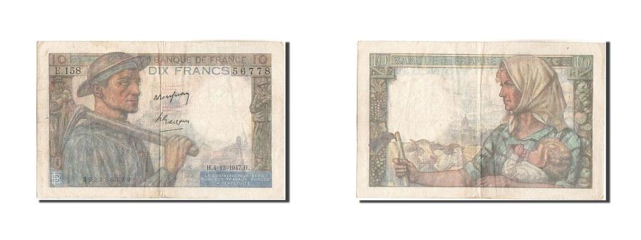 World Coins - France, 10 Francs, 10 F 1941-1949 ''Mineur'', 1947, KM #99f, 1947-12-04,...