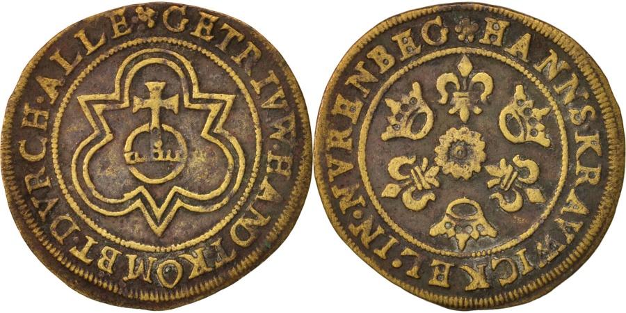 World Coins - France, Token, Jeton au globe, , Brass