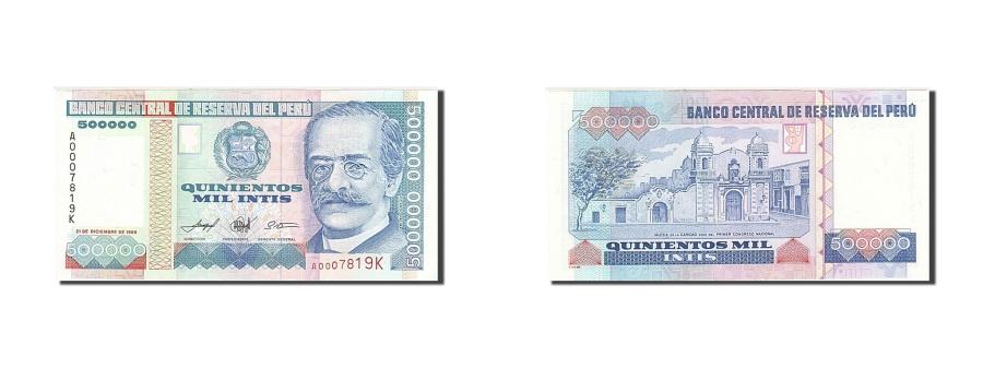 World Coins - Peru, 500,000 Intis, 1985-1991, 1989-12-21, KM:147, UNC(63)