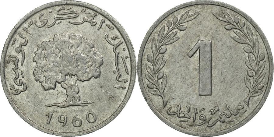 World Coins - Coin, Tunisia, Millim, 1960, Paris, , Aluminum, KM:280