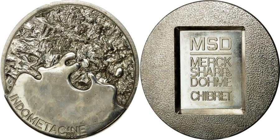 World Coins - France, Medal, Physique, Indométacine, 1986, Réti, , Silvered bronze