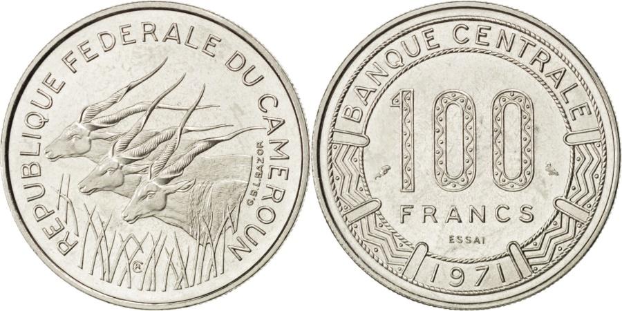 World Coins - CAMEROON, 100 Francs, 1971, Paris, KM #E13, , Nickel, 6.95