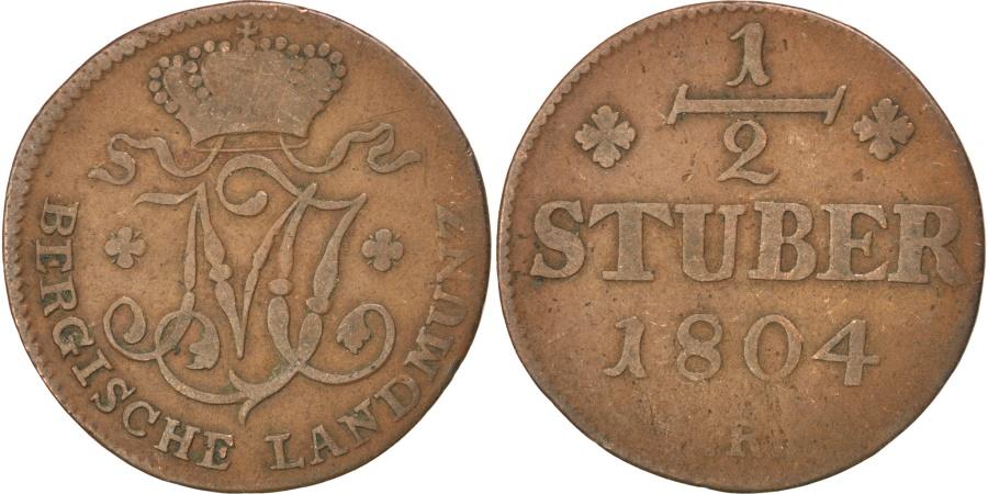 World Coins - GERMAN STATES, 1/2 Stuber, 1804, D, KM #2, , Copper, 4.03