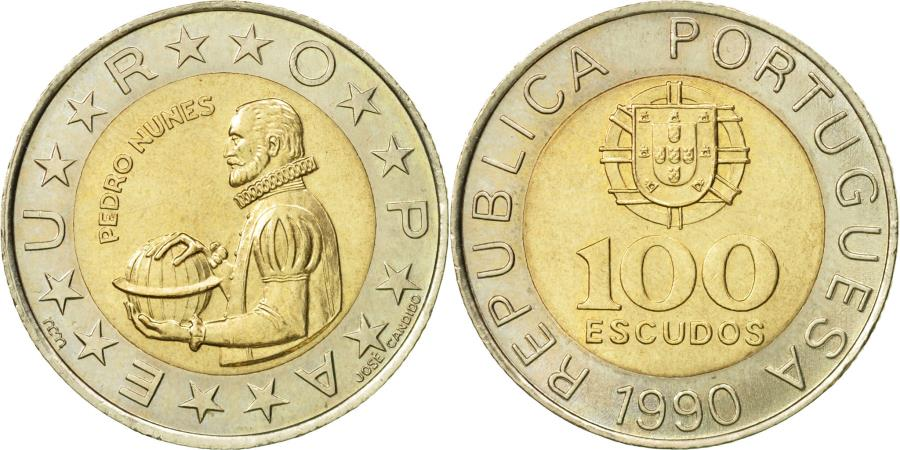 World Coins - Portugal, 100 Escudos, 1990, , Bi-Metallic, KM:645.1
