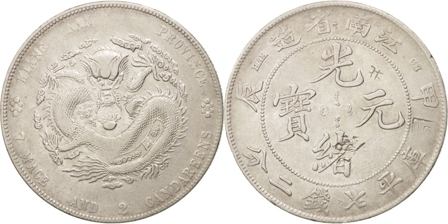 World Coins - China, KIANGNAN, Kuang-hs, Dollar, 1904, , Silver, KM:145a.12